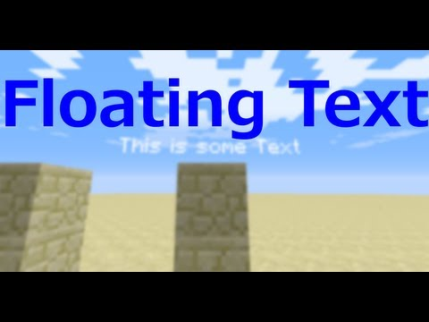 Minecraft Floating Text
