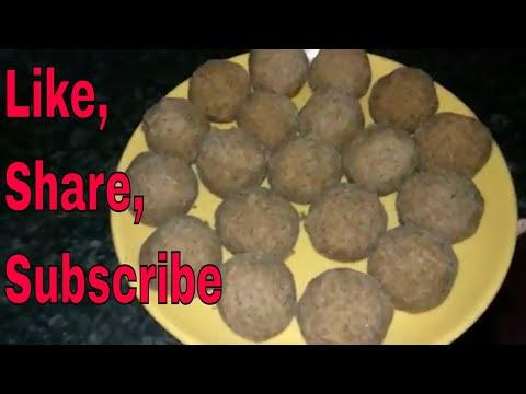 Alsi Pinni Recipe in HINDI-(cookEasy)   Alsi ke laddu Recipe  अलसी की पिन्नी   