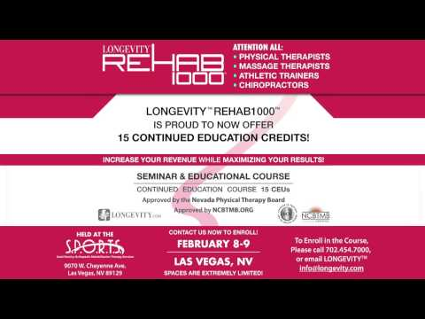 ANNOUNCING Longevity USA Rehab Seminar | Continuing Education for Physical & Massage Therapists