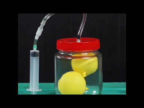 How to Make a VACUUM PUMP at Home out of Syringe