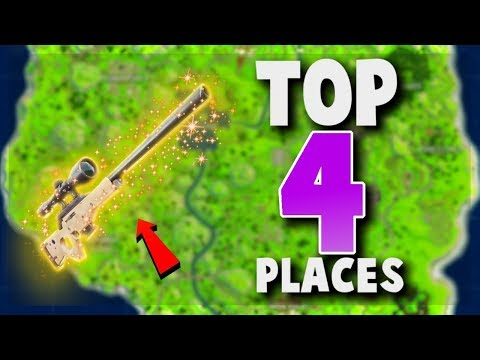 TOP 4 UNKNOWN Places to Land for LOOT and EASY WINS (Fortnite Battle Royale) | Tips and Tricks