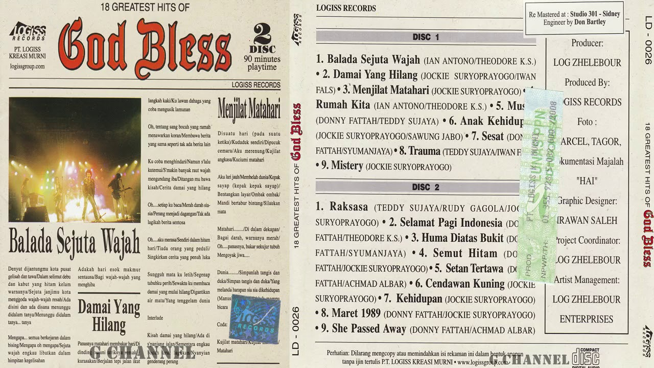 Download God Bless - 18 Greatest Hits Of (1992) [HQ Audio] MP3 Gratis