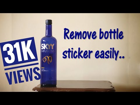 How to remove sticker from wine bottles easily