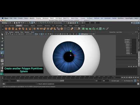 3D Realistic Eye Tutorial Maya