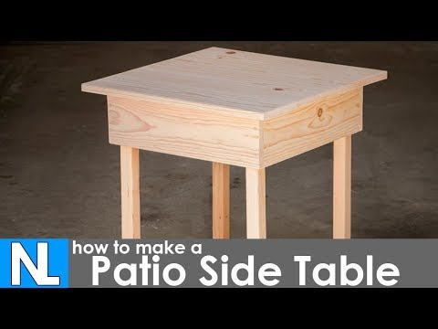 Making a Patio Side Table ~ DIY woodworking simple