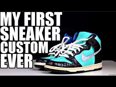 HOW I STARTED YOUTUBE/ CUSTOMIZING SNEAKERS !!!