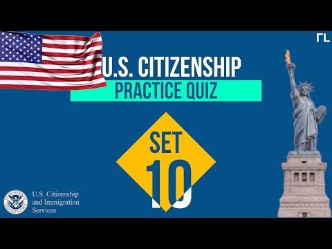 US Citizenship Practice Quiz (Set 10)