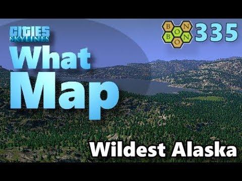 Cities Skylines - What Map - Map Review 335 - Wildest Alaska
