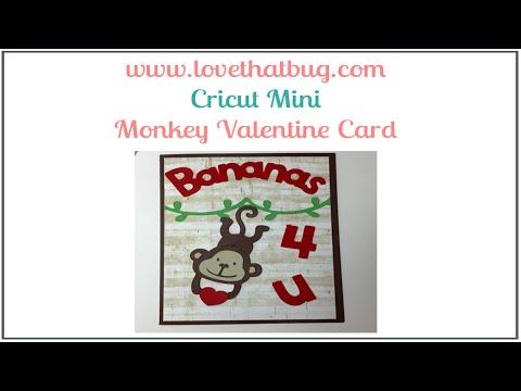 Cricut Mini Monkey Card