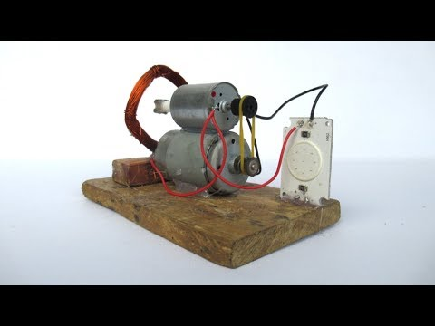 How to make free energy electric motor generator with LED light bulbs - Awesome idea 2018 with motor