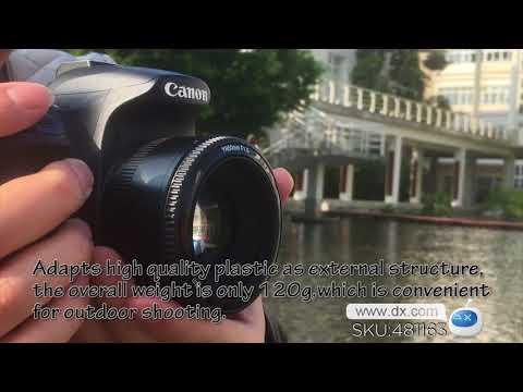 YONGNUO YN EF 50mm F/1.8 Fixed Focus Lens for Canon DSLR