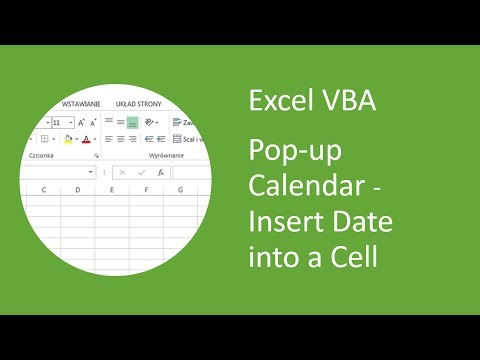 Excel Pop-up Calendar #11 Insert Date Into Cell from MonthView Control (VBA)