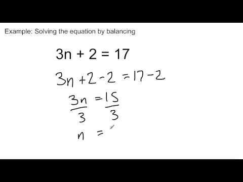 Grade 8 Math - Lesson 8.5: Solving Equations