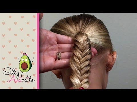 Dad Hair Tip #3 - How to Fishtail Braid - EASY Daddy Hairstyle - cute girl hairstyles!