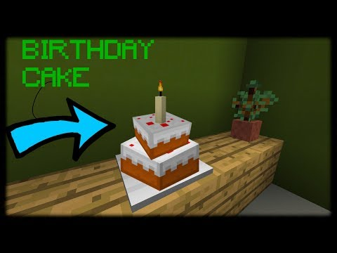 Minecraft PE | How to Make a Birthday Cake