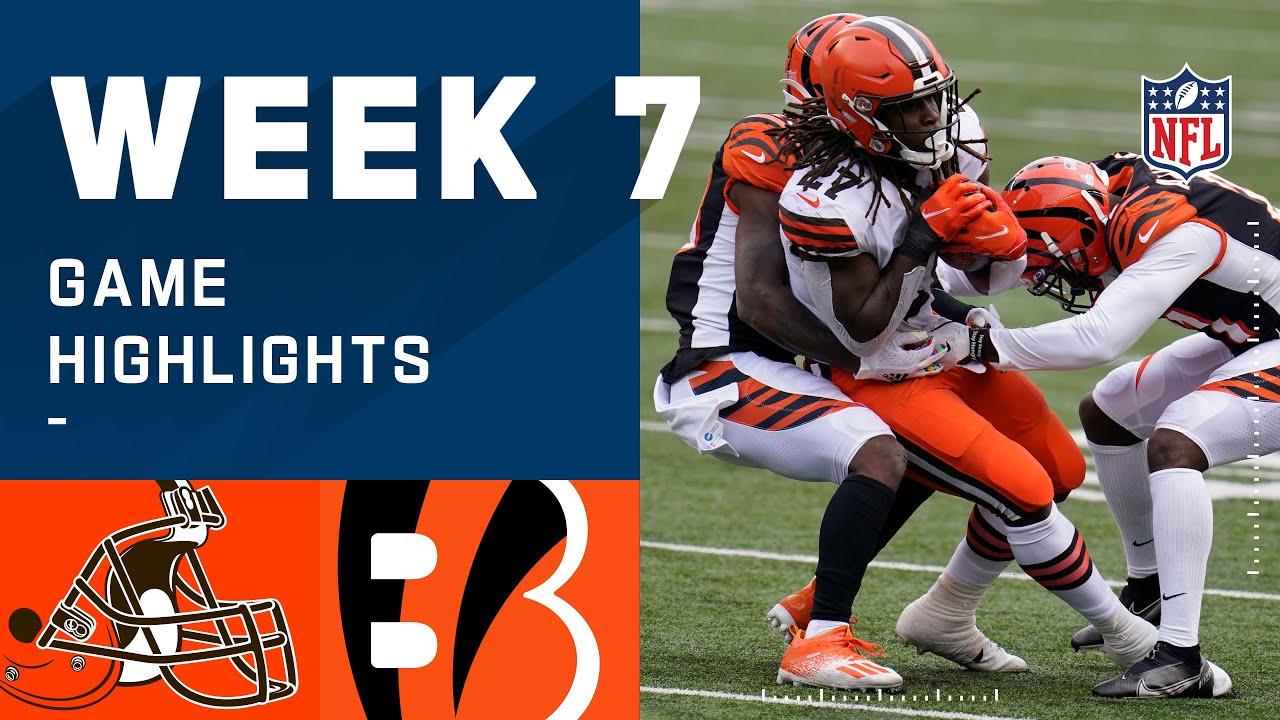 Browns vs. Bengals Week 7 Highlights | NFL 2020