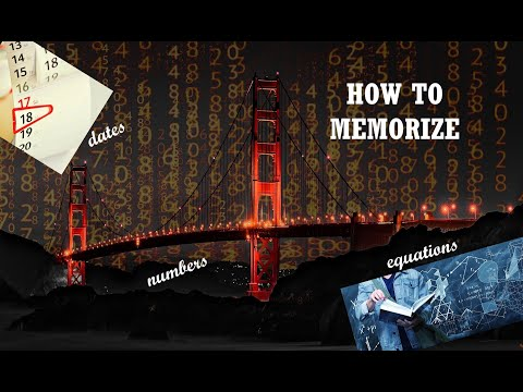 How To Memorize Numbers, Dates & Equations