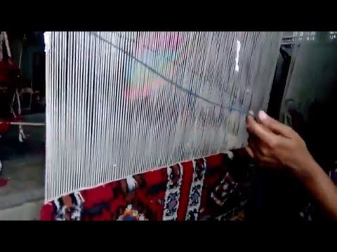 Making of Eluru Hand Knotted Carpets