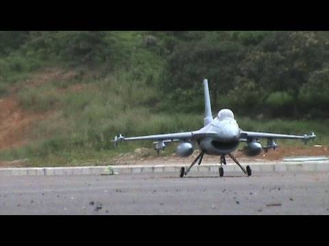 RC F-16 90mm EDF Jet Maiden Flight Clips