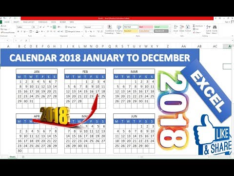 #106 How to Make Excel Calendar for Specific Year Hindi
