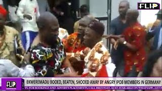 EKWEREMADU BOOED, BEATEN, SHOOED AWAY BY ANGRY IPOB MEMBERS IN GERMANY
