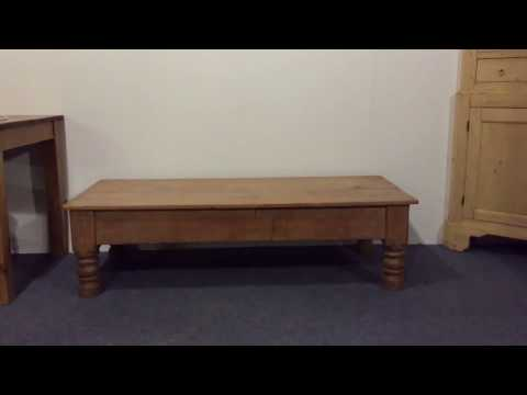 Victorian Farmhouse Table converted to Coffee Table - Pinefinders Old Pine Furniture Warehouse