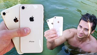 iPhone 8 vs 7 Water Test! Secretly Waterproof?