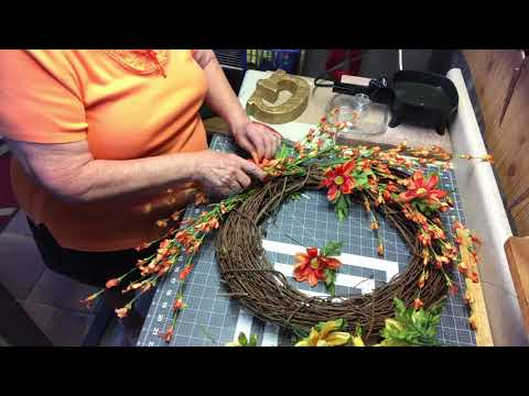 A Grapevine spring/summer wreath