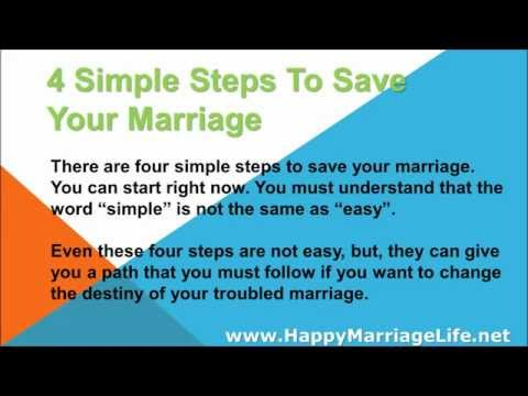 4 Simple Steps To Save Your Marriage