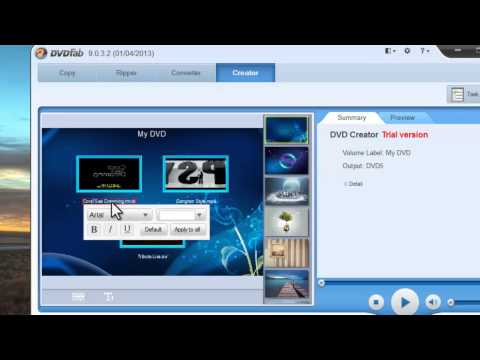 How to create your own DVD with menu using DVDFab 9