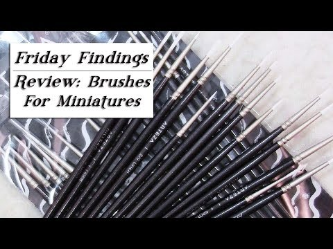 Brushes For Miniatures-Arteza Set of 15 Liners, Spotters & Rounds Review-Friday Findings