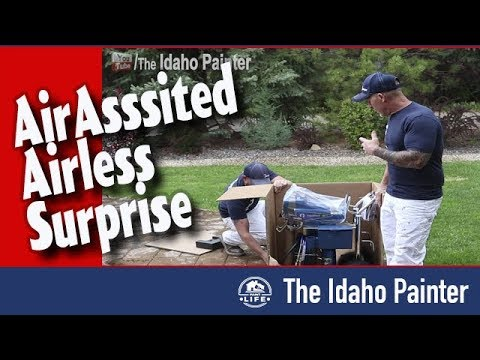 SUPRISE it's an air assisted airless sprayer