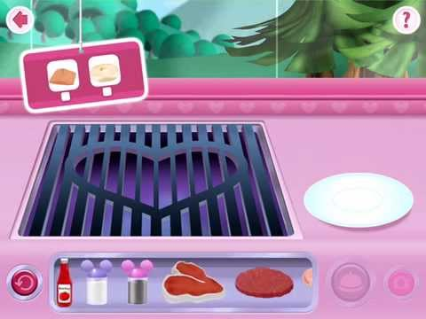 Minnie's Mouse Grill Station in Food Truck - Disney App  Fish & Bagel