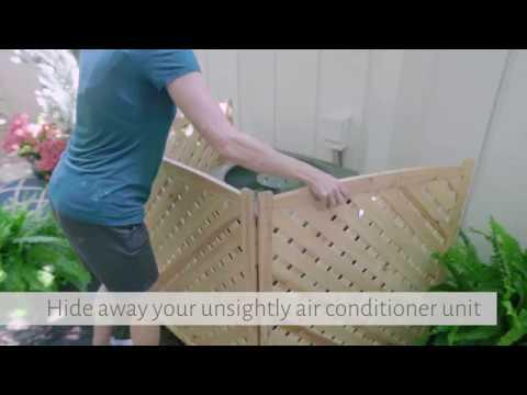 Wood Lattice Air Conditioner Screens - Improvements Catalog