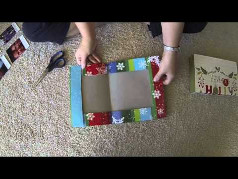 Make a Christmas Gift - Present Box from a box top