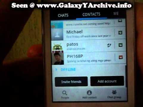 imo on Samsung Galaxy Y
