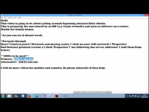 How to bypass internet filters + or parental controls on laptops etc (eg Virgin Websafe)