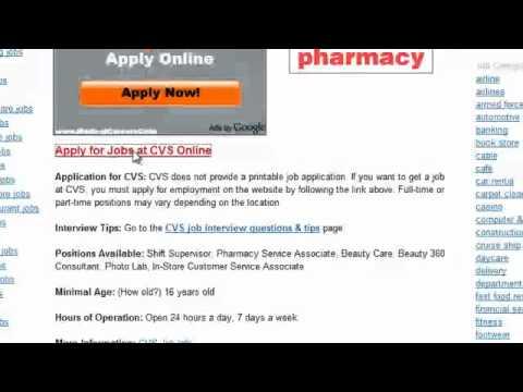 CVS Job Application Online