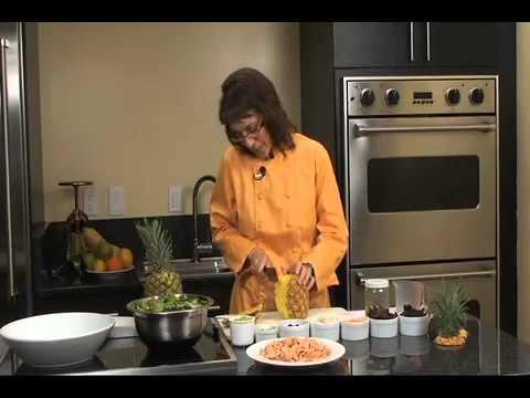 Salmon Salad with Black Pepper, Pineapple & Basil Balsamic Dressing
