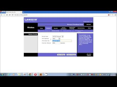 How to Change Security Password on Linksys Router
