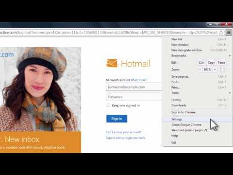 How to Make Hotmail Your Home Page in Chrome
