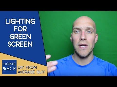 Setup proper lighting for green screen video