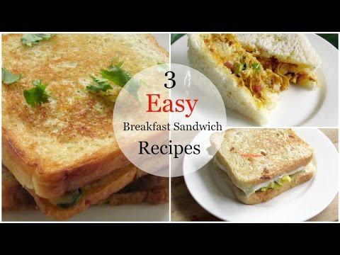3 Easy Breakfast Sandwich Recipes
