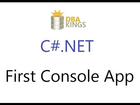 C# Video 1 - First Console Application using MS Visual Studio