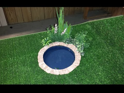 How to make a Doll Backyard Pond
