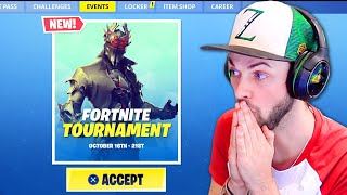 I entered a Fortnite tournament + THIS happened...