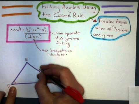Using Cosine Rule to Find an Angle