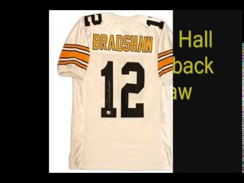 Terry Bradshaw Signed White Pittsburgh Steelers Jersey