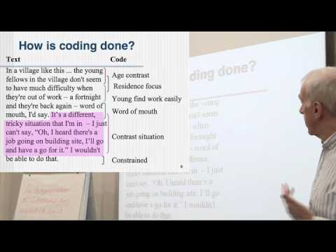 Coding Part 2: Thematic coding