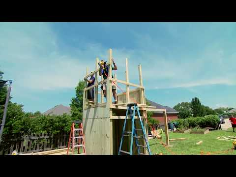DIY Construction of Outdoor Wood Playset for Kids